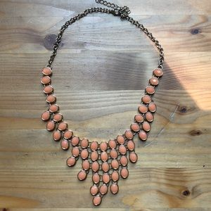 orange Nordstrom statement necklace